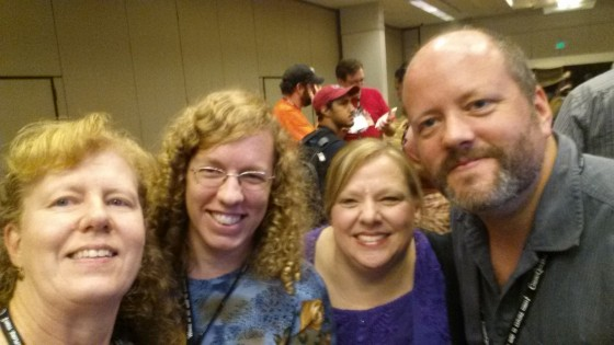 Universe Today crew of Nancy Atkinson, Elizabeth Howell, Susan Murph and Fraser Cain at DragonCon 2014.
